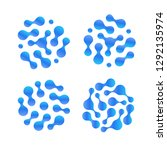 abstract h2o liquid drop icon... | Shutterstock . vector #1292135974