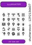 illumination icon set. 25... | Shutterstock .eps vector #1292136607