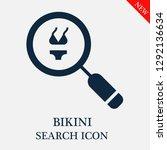 bikini search icon. editable... | Shutterstock .eps vector #1292136634