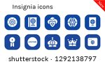 insignia icon set. 10 filled... | Shutterstock .eps vector #1292138797