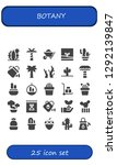 botany icon set. 25 filled... | Shutterstock .eps vector #1292139847