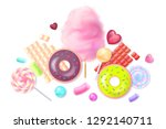 collection of 3d sweets ... | Shutterstock .eps vector #1292140711