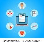 online doctor  internet... | Shutterstock .eps vector #1292143024