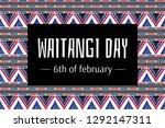 waitangi day background vector. ... | Shutterstock .eps vector #1292147311