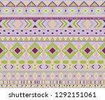 navajo american indian pattern... | Shutterstock .eps vector #1292151061