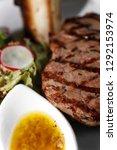 beef tenderloin steak and gravy ... | Shutterstock . vector #1292153974