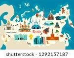 russia vector map. children... | Shutterstock .eps vector #1292157187
