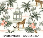 beautiful tropical vector... | Shutterstock .eps vector #1292158564