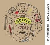 doodle style illustration. hand ... | Shutterstock .eps vector #1292161201