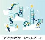 vector illustration  a man... | Shutterstock .eps vector #1292162734