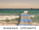the waves are moving a floating ... | Shutterstock . vector #1292166274
