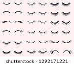 eyelashes set. mascara face... | Shutterstock .eps vector #1292171221