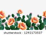 seamless vector floral summer... | Shutterstock .eps vector #1292173537