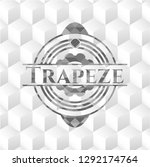 trapeze grey emblem. retro with ... | Shutterstock .eps vector #1292174764