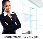 smiling young african... | Shutterstock . vector #129217481