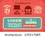 wedding invitation card... | Shutterstock .eps vector #129217685