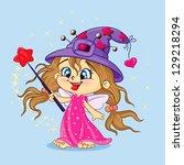 fairy girl | Shutterstock .eps vector #129218294