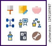 9 workshop icon. vector... | Shutterstock .eps vector #1292185987