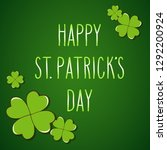 hand drawn st. patrick's day... | Shutterstock .eps vector #1292200924
