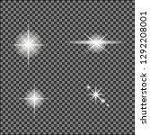 white glowing light burst out... | Shutterstock .eps vector #1292208001