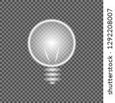 white glowing light burst out... | Shutterstock .eps vector #1292208007