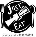 just eat logo  vector ... | Shutterstock .eps vector #1292210191