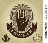 i swear vintage seal   mark   Shutterstock .eps vector #129221171