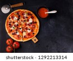 pizza margarita and pepperoni | Shutterstock . vector #1292213314