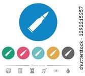 bullet rifle ammo flat white... | Shutterstock .eps vector #1292215357