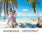 honey mooners or newlyweds... | Shutterstock . vector #1292225617