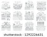 agriculture farm  farming... | Shutterstock .eps vector #1292226631