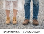 couples wearing brown leather... | Shutterstock . vector #1292229604