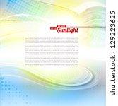 sunlight. abstract artistic... | Shutterstock .eps vector #129223625