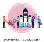 business people cartoon | Shutterstock .eps vector #1292239354