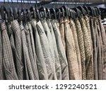 rows of men's different  pants  ... | Shutterstock . vector #1292240521