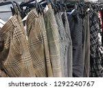 rows of men's different  pants  ... | Shutterstock . vector #1292240767