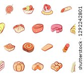 bakery products and snacks set. ...   Shutterstock .eps vector #1292242801