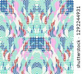 quirky tapestry pattern.... | Shutterstock .eps vector #1292244931