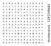 statistics icon set. collection ... | Shutterstock .eps vector #1292248681