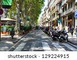 barcelona july 25 la rambla on... | Shutterstock . vector #129224915