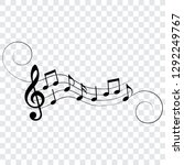 music notes  symbols  musical... | Shutterstock .eps vector #1292249767