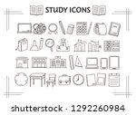 collection of icons on... | Shutterstock .eps vector #1292260984