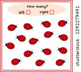 worksheet. how many left and... | Shutterstock .eps vector #1292279491