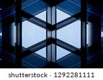 windows and glass wall with... | Shutterstock . vector #1292281111