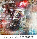 Graffiti Wall  Colorful...
