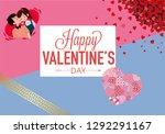 vector happy valentines day...   Shutterstock . vector #1292291167