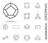 3d pentagon icon. geometric... | Shutterstock .eps vector #1292299141