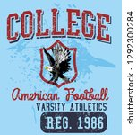 eagle team college style vector ... | Shutterstock .eps vector #1292300284