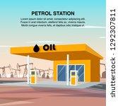 flat banner illustration yellow ... | Shutterstock .eps vector #1292307811
