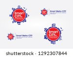 the concept of smart city icons ... | Shutterstock .eps vector #1292307844